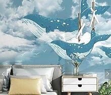 apeten Blauer Himmel Walfisch Fototapete für