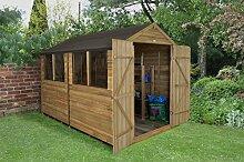 Apex Gartenhaus Druck behandelt 10x 8Double Door Holz Schuppen