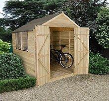 Apex Gartenhaus Druck behandelt 7x 7Holz Schuppen Doppeltür