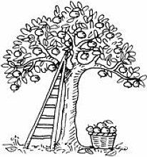 Apfelbaum * Motivstempel * Bilderstempel * Stempel