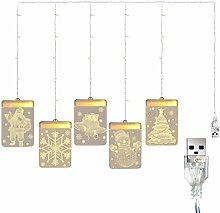 Apofly Vorhang-Fee-Licht, 3D Christmas hängende