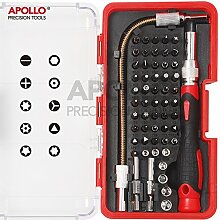 Apollo 58 Stücke Elektronik Bit Set (Reparatur von Mobiltelefonen, iphone, Macbook Air & Pro, PDA, PC, Notebooks, LCD Bildschirme, Tablets, Uhren, Nintendo, Game Boy, PS2, xBox und mehr... )