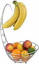 Apollo Bananenbaum/Obstschale, Chrom