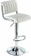 Apollo Gasdruckfeder Bar Stuhl Weiß