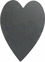 Apollo Slate Herz Tisch-Sets 29x 21cm, grau