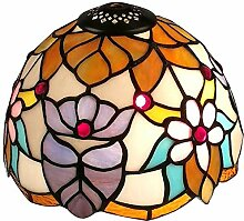 Apopp Tiffany-Art-Blumen Lampenschirm Ersatz for