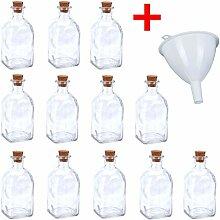 Apotheker Glas Flaschen 120ml inkl. Trichter