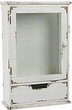 Apothekerschrank aus Antikholz mit Glastür H 52 cm