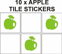 Apple gemustert Vinyl Aufkleber für Fliesen Badezimmer/Küche Keramik Fliesen Aufkleber, TILESAPPLE