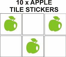 Apple gemustert Vinyl Aufkleber für Fliesen Badezimmer/Küche Keramik Fliesen Aufkleber, Vinyl, weiß, 130 mm