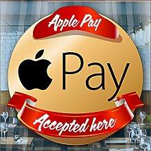 Apple Pay Accepted Here Fenster Cafe Geschäft