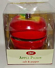 Apple Pickin' Salt & Pepper Stacked Shakers by