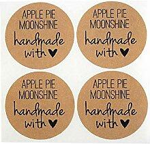Apple Pie Moonshine Etiketten von Once Upon