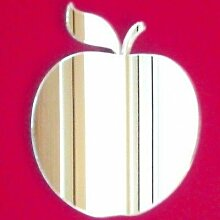 Apple Wandspiegel, plastik, 35 x 30 cm