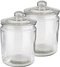 APS Vorratsglas, Glas, (Set, 2-tlg), Ø 14 cm, 2