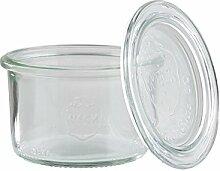 APS Weck-Glas mit Deckel, 12er Setmit einem Ø von
