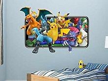APXN IOSP Wandsticker Pokemon Wandtattoos