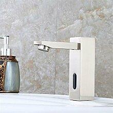 AQMMi Waschtischarmatur Wasserhahn Messing Nickel