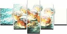 AQNY Malerei Stil Wand modular 5 Panel Kunst