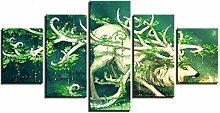 AQNY Moderne malerei dekorative Rahmen 5 Panel