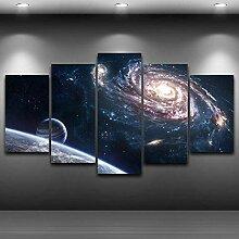 AQNY Modular Stoff Wandbilder 5 Weltraumbilder