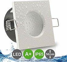 AQUA BASE IP65 1er Set ultra flach LED 5W = 50W