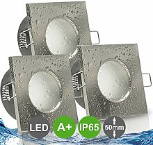 AQUA BASE IP65 3er Set ultra flach LED 5W = 50W