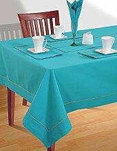 AQUA-blau Tischdecke Frühling Dekorationen für Zuhause Größe-137-CmX137 Cm