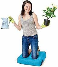Aqua Blau Wasserabweisende Outdoor Gadren Workshop DIY kniend Pad Sitzsack mit Griff und Taschen