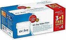 Aqua Optima Evolve 8-Monate-Packung, 4 x 60 Tage-Wasserfilter - Für *BRITA Maxtra (nicht *Maxtra+) Geräte - EVD415