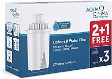 Aqua Optima Universal Wasserfilter 3 Pack. Auch für Brita Classic geeignet.