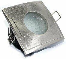Aqua Square LED Badstrahler Einbaustrahler, NIEDERVOLT MR16 Fassung für Trafo, Feuchtraum IP65, OUT65, Bad Badezimmerstrahler eckig, quadratisch, auch für den Duschbereich oder Aussenbereich