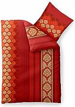 aqua-textil Bettwäsche 155x220 Baumwolle, Trend Bettbezug Nadia Streifen Muster rot orange 0011795