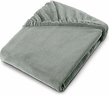 aqua-textil Feelwell Spannbettlaken 140x200 Silber