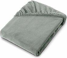 aqua-textil Feelwell Spannbettlaken 160x200 Silber