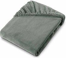aqua-textil Feelwell Spannbettlaken 180x200 grau