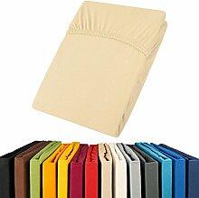aqua-textil Jersey Spannbettlaken 140x200-160x200