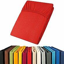 aqua-textil Jersey Spannbettlaken 180x200-200x200 Viana Spannbetttuch 100% Baumwolle Bettlaken 0011892 Ro