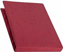 aqua-textil Pur Spannbettlaken bordeaux rot 90x200