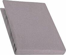 aqua-textil Pur Spannbettlaken dunkel grau 90x200