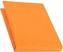 aqua-textil Pur Spannbettlaken orange 180x200 -