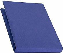 aqua-textil Pur Spannbettlaken royal blau 180x200