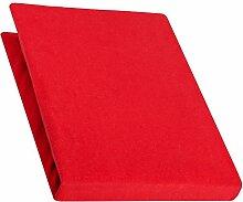 aqua-textil Pur Spannbettlaken rubin rot 90x200 -