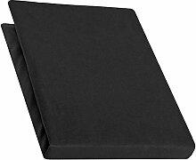 aqua-textil Pur Spannbettlaken schwarz 90x200 -
