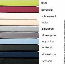 aqua-textil Topper Spannbettlaken 120x200-130x200 Boxspringbett Bettlaken Baumwolle silber grau 1001072 Pur