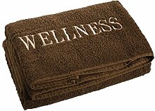 aqua-textil Wellness Saunatuch 80 x 200 cm Uni