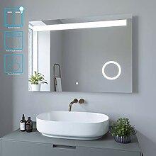 AQUABATOS Badspiegel Schminkspiegel LED