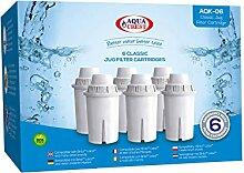 AquaCrest 6 x AQK-06 Wasserkrugfilter Ersatz für