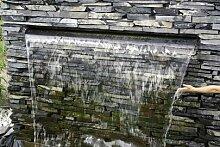Aquafall 900 mm, Wasserfall aus Edelstahl, z. B.