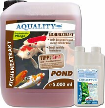 AQUALITY Eichenextrakt POND 5.000 ml (GRATIS Lieferung innerhalb Deutschlands - Senkt auf natürliche Weise, durch seine Humin- und Gerbsäuren, den pH-Wert im Gartenteich und unterstützt eine Algenbekämpfung)
